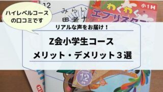 Z会小学生コースのメリットデメリット