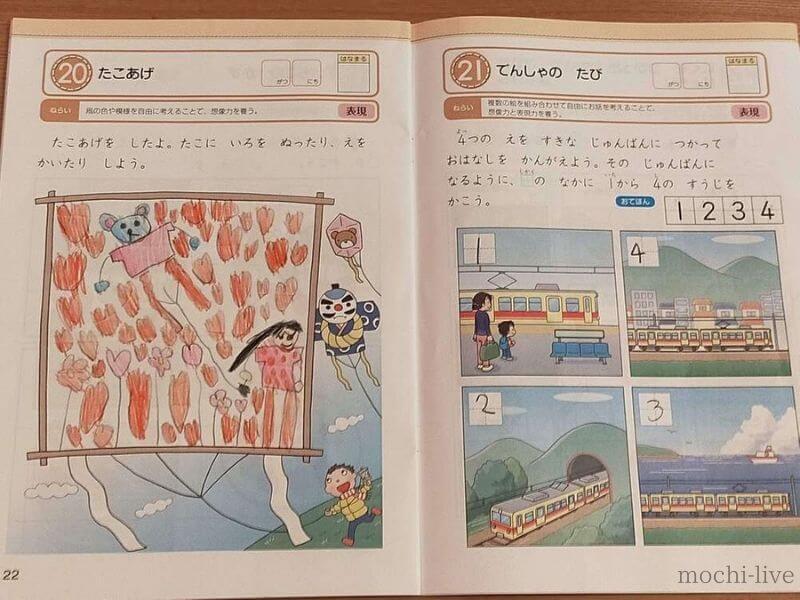 Z会幼児コース教材-お絵描き