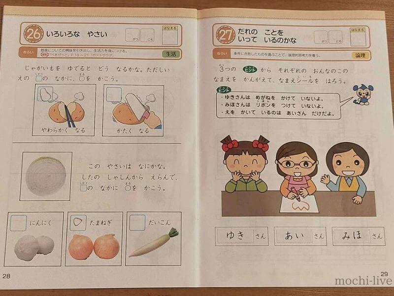 Z会幼児コース教材ー考える力ワーク