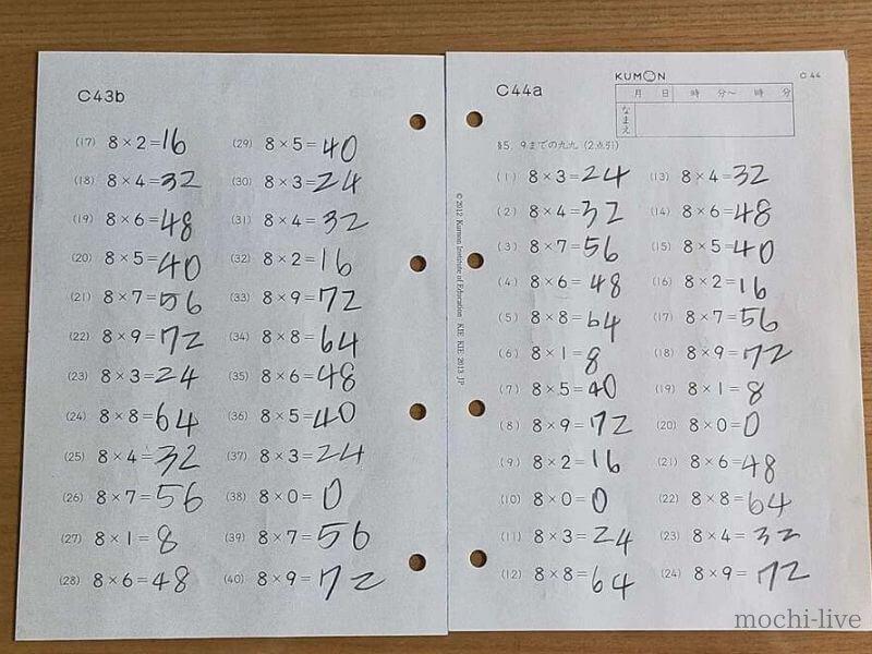 公文の小学生の算数