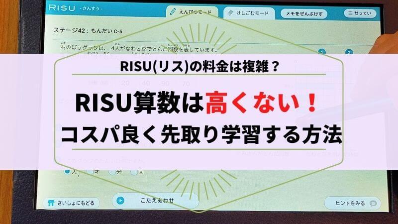 RISU(リス)算数の料金は高くない!コスパ良く先取り学習をする方法