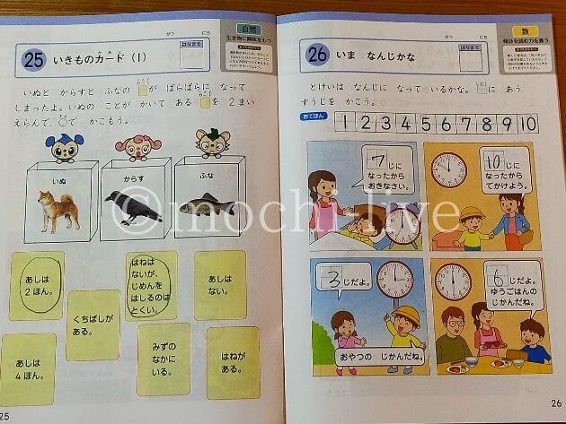 Z会幼児コース年長11月号|かんがえる力ワーク